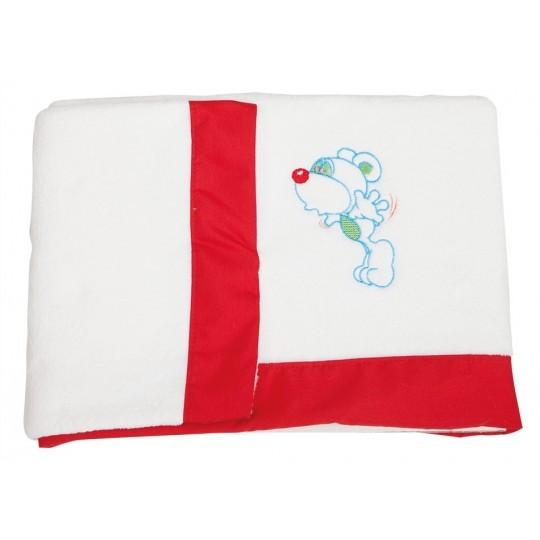 Juego de sábanas de cuna 70 x 140 Coralina Ratoncito rojo