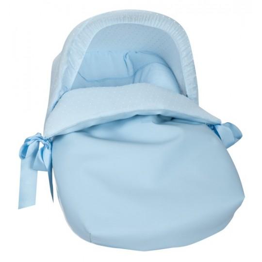 Saco Porta bebé Algodones Celeste (capota no incluida)