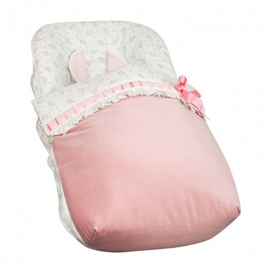 Saco Porta bebé Autumn Rosa (capota no incluida)