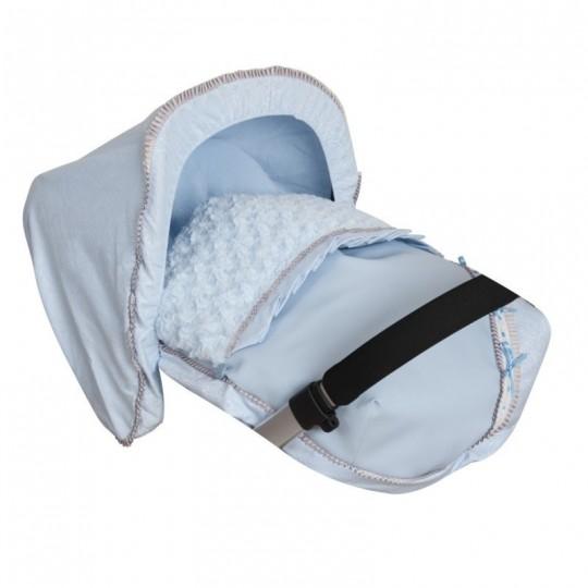 Saco Porta bebé Bombón Azul. (capota no incluida)