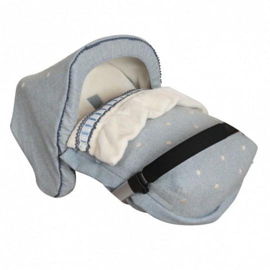 Saco Porta bebé Caricias Azul (capota no incluida)