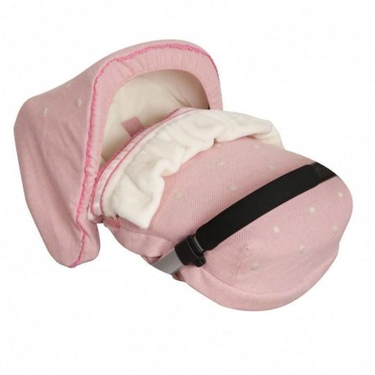 Saco Porta bebé Caricias Rosa (capota no incluida)