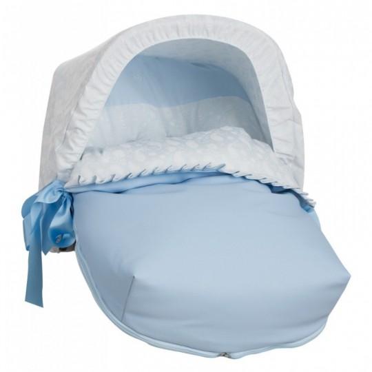 Saco Porta bebé Cashmere Celeste (capota no incluida)