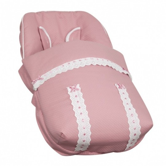 Saco Porta bebé Classic Rosa (capota no incluida)