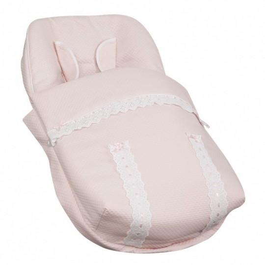 Saco Porta bebé Classic Rosa Bebé (capota no incluida)