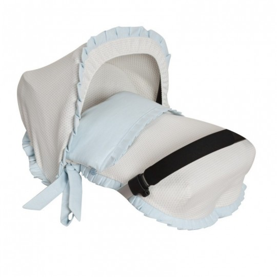 Saco Porta bebé Destellos Azul. (capota no incluida)