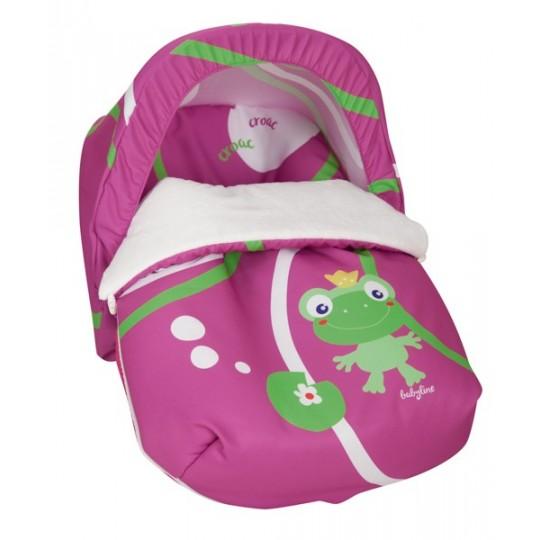 Saco Porta bebé Ranita morado (capota no incluida)