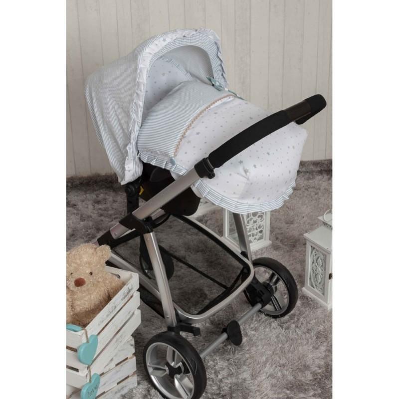 Saco Porta bebé Sueños Azul. (capota no incluida)