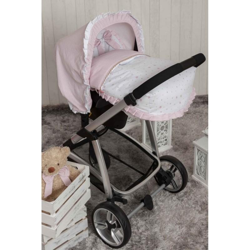 Saco Porta bebé Sueños Rosa. (capota no incluida)