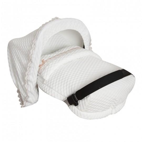 Saco Porta bebé Sweet Blanco. (capota no incluida)
