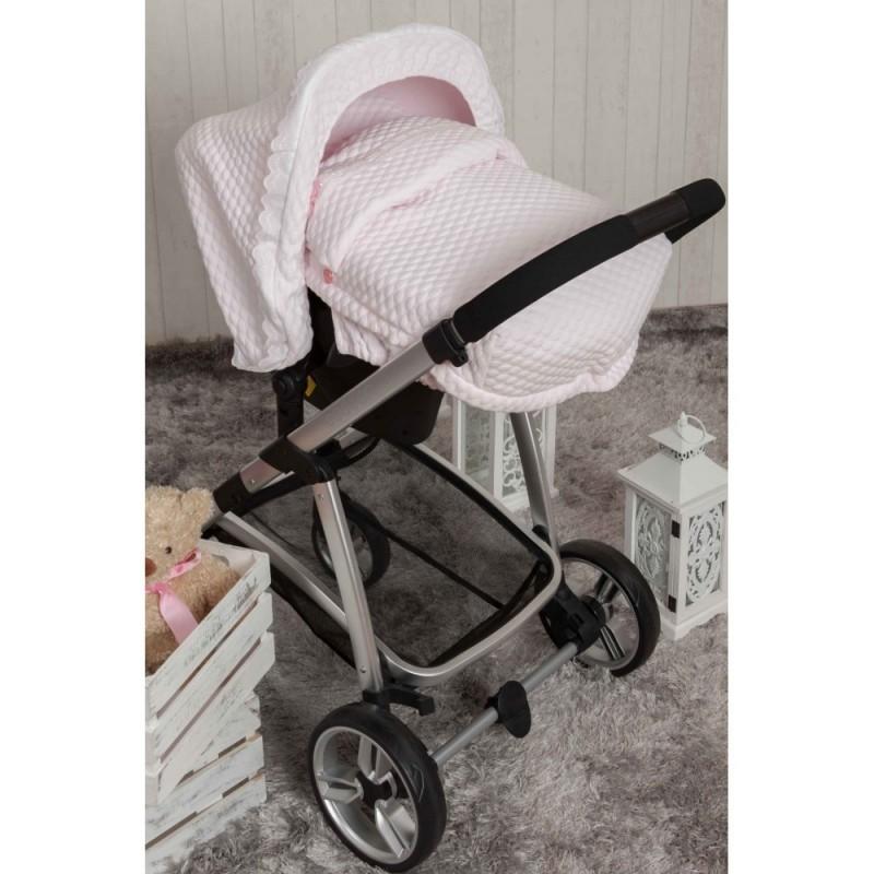 Saco Porta bebé Sweet Rosa. (capota no incluida)