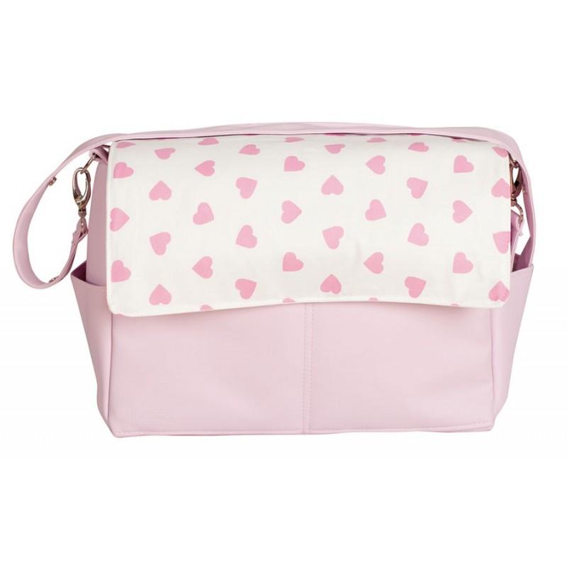 Bolso de bebé maternal Corazones rosa