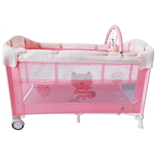 Cuna de viaje Dream Baby Rosa
