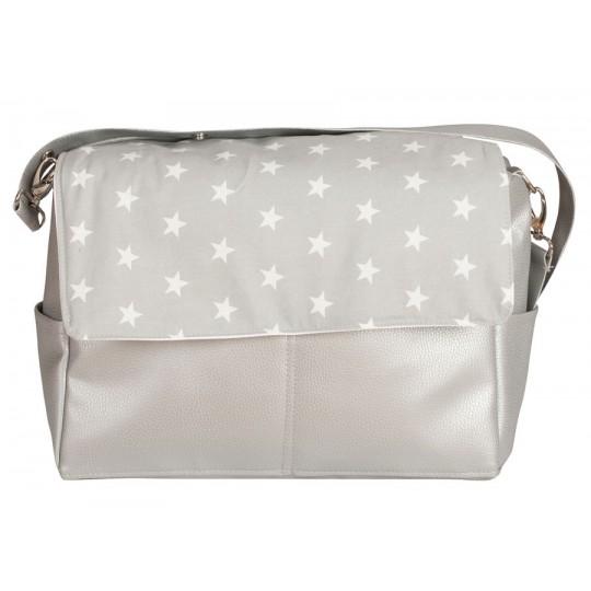 Bolso de bebé maternal Estrellas gris
