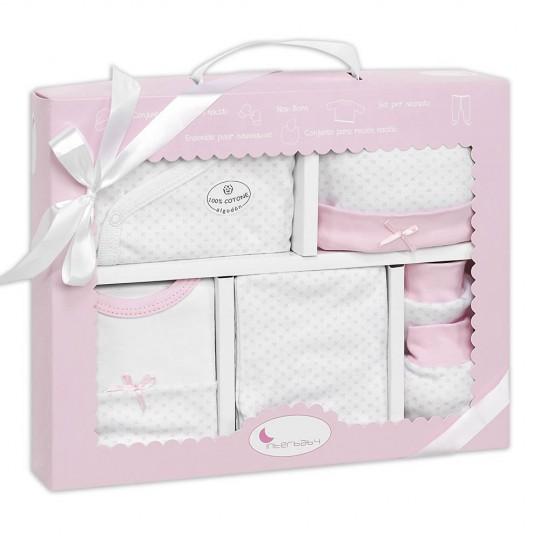 Set Recién Nacido 5 Piezas de la firma Interbaby Rosa