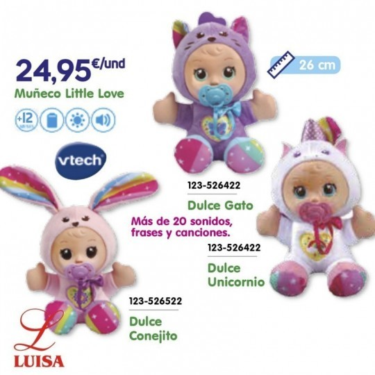 Muñeco Little Love Dulce Conejito