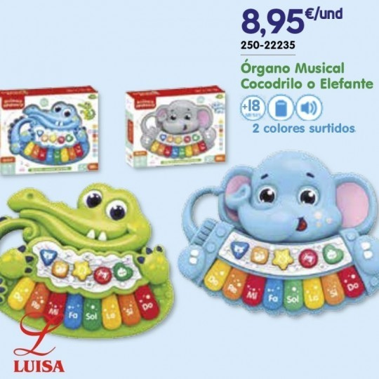 Órgano Musical Cocodrilo o Elefante