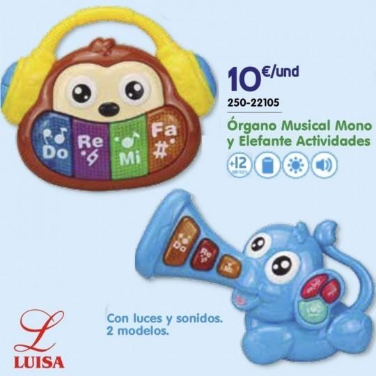 Órgano Musical Mono y Elefante Actividades