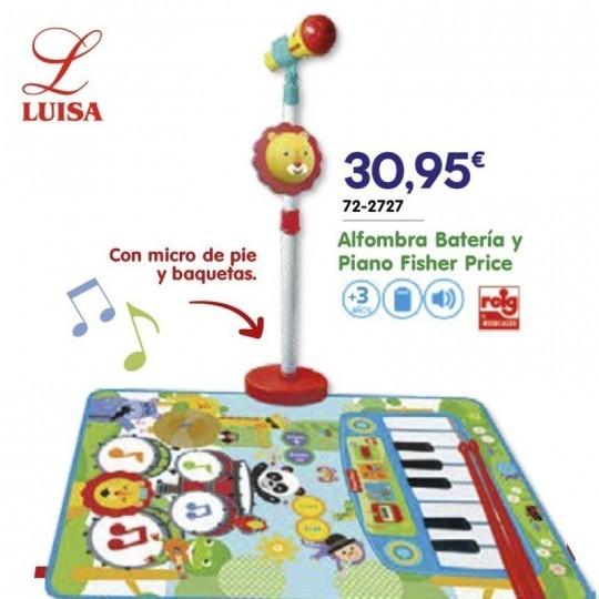 Alfombra Batería y Piano Fisher Price
