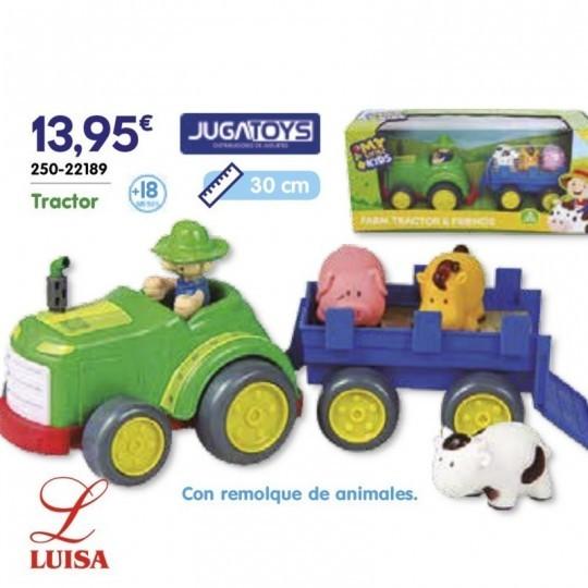 Tractor Con remolque de animales