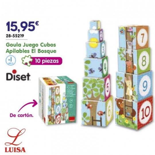 Goula Juego Cubos Apilables El Bosque