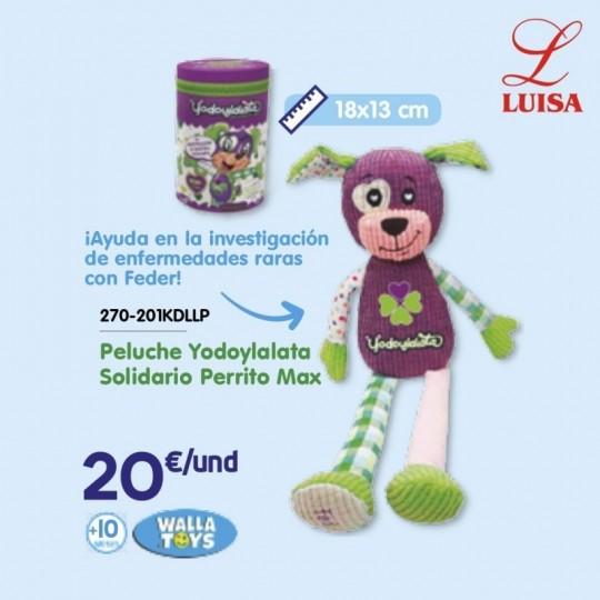 Peluche Yodoylalata Solidario Perrito Max