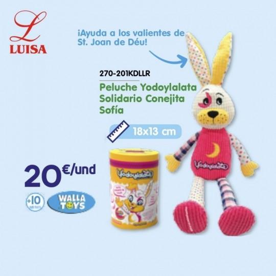 Peluche Yodoylalata Solidario Conejita Sofía