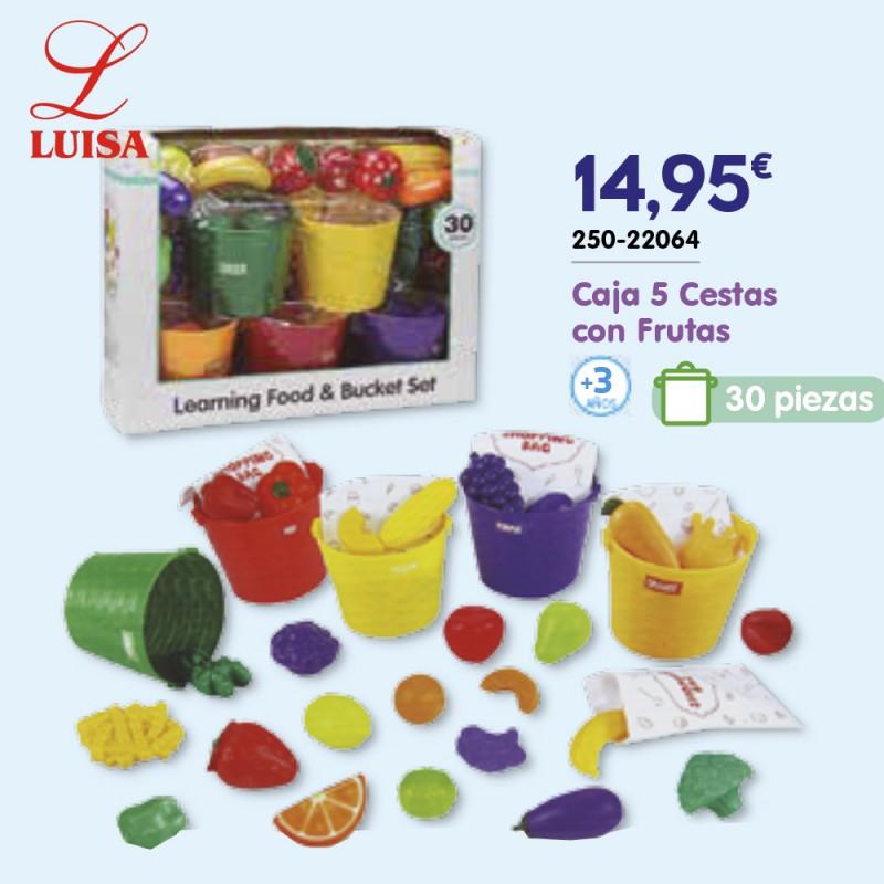Caja 5 Cestas con Frutas