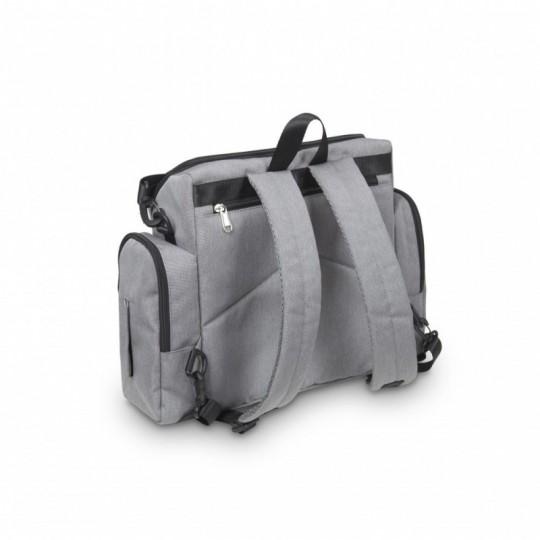 Bolso Elevador Color gris estrellitas Blancas MS
